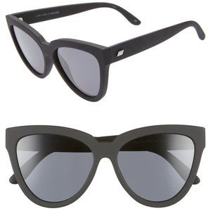 Le Specs LIAR LAIR Black Matte Cat Eye Sunglasses